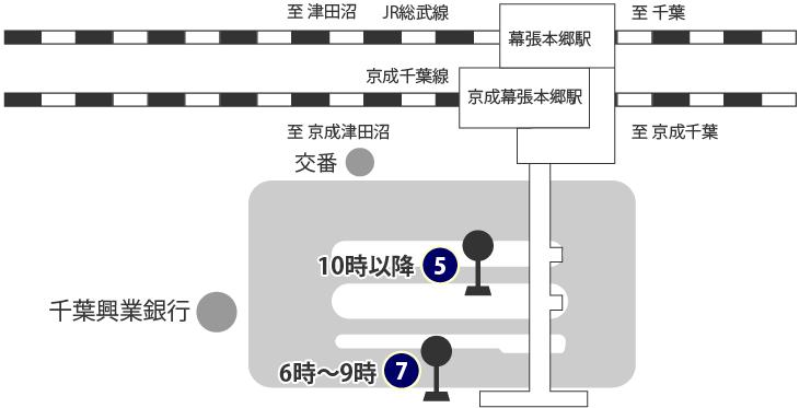 Bus route access map
